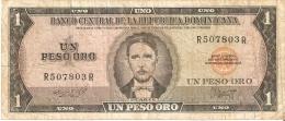 BILLETE DE LA REPUBLICA DOMINICANA DE 1 PESO ORO DEL AÑO 1975 DE DUARTE (BANKNOTE) RARO - República Dominicana