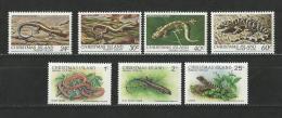 Christmas: 152/ 155 + 232/ 234 **   Reptiles - Non Classificati