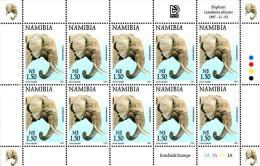 Namibia - 1997 Flora And Fauna $1.50 Elephant Sheet (**) # SG 762 , Mi 889A - Elephants