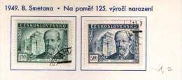 Czechoslovakia 1949. Friedrich Birt Day Used Set Michel: 578-579 - Czechoslovakia