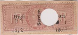 Br India Queen Victoria, 1 Rupee Special Adhesive Stamp HIGH COURT Overprint, Inde Indien As Per The Scan - Zonder Classificatie