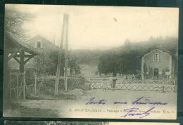 CPA - 78 - Jouy-en-Josas -  Passage à Niveau Et Rue D'Orléans  -   DAH38 - Jouy En Josas