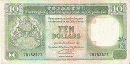 BILLETE DE HONG KONG DE 10 DOLLARS DEL AÑO 1992 (BANKNOTE) - Hong Kong