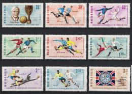 1966 Ungarn 2242-50 ** MNH Fußball Football Soccer WM Sport - Fußball-Weltmeisterschaft