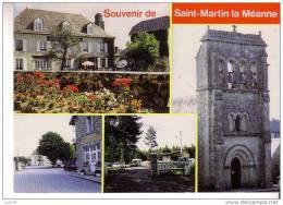 SAINT MARTIN LA MEANNE - Souvenir - 5 Vues  : Eglise, Mairie, Ecole Et Poste, Hôtel Des Voyageurs, Camping Municipal - Other Municipalities