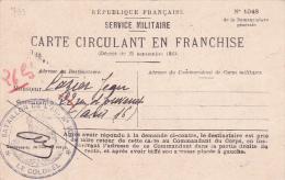 """CARTE CIRCULANT EN FRANCHISE Obl """" BATAILLON DE L'AIR N°107 """" Villacoublay Seine Et Oise Nomination - Aviation Militaire - FM-Karten (Militärpost)"""
