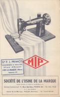 """Machines A Coudre-""""MIP-tulle Corrèze-dépliant-130mmx210mm - 1900 – 1949"""