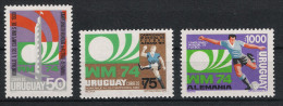1974 Uruguay 1302-04 ** MNH Fußball Football Soccer Sport WM - Coppa Del Mondo