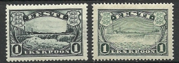 ESTLAND Estonia 1933 & 1940 Narva Wasserfälle Waterfall Michel 98 & 159 * - Estland