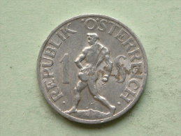 1946 - 1 SCHILLING - KM 2871 ( Uncleaned Coin / For Grade, Please See Photo ) !! - Autriche