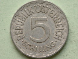 1952 - 5 SCHILLING - KM 2879 ( Uncleaned Coin / For Grade, Please See Photo ) !! - Autriche