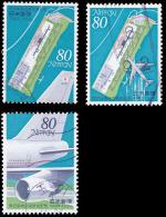 Japan Scott #2422-2424, set of 3 (1994) Opening of Kansai International Airport, Used