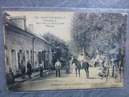 72 Saint-Frimbault, Café DORIZON, TB  CP Ancienne Animée, Ref944 - Chateau Du Loir