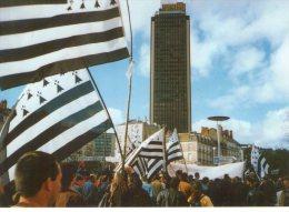 Nantes..très Animée..Manifestation..mars 1998..rattachement..à La Bretagne..drapeaux - Nantes