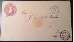 Mecklenburg-Schwerin Ganzsache, 2 Schilling (1864/66) Der Seltene Umschlag Stpl. GREVESMÜHLEN Mi U 10 Selten! - Mecklenburg-Schwerin
