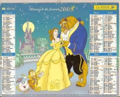 Almanach Du Facteur. LA POSTE. Calendrier LAVIGNE 2003. La Belle Et La Bête - Peter Pan. WALT DISNEY - Calendriers