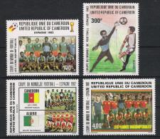 1982 Kamerun 979-82 ** MNH Fußball Football Soccer Sport WM - Fußball-Weltmeisterschaft