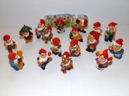 Kinder Ferrero Serie GNOMI NANI 17 PEZZI CON CARTINA K95 2 - Monoblocs