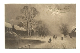 Cp, Noël, Joyeux Noël, Voyagée 1913 - Weihnachten