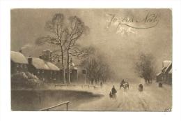 Cp, Noël, Joyeux Noël, Voyagée 1913 - Navidad