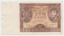 Poland 100 Zlotych 1934 VF++ CRISP Banknote P 75 - Polonia