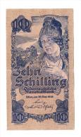 Austria 10 Schilling 1945 XF CRISP RARE Banknote - Austria