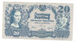 Austria 20 Schilling 1945 VF+ Banknote P 116 - Autriche