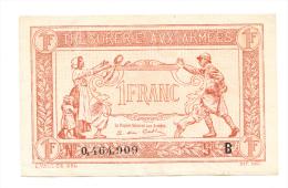 FRANCE 1 FRANC TRESORERIE AUX ARMEES 1917 VF++ (2 Rips) P M2 - Treasury