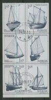 SWEDEN 1981 BOATS BOOKLET PANE USED - Usati