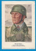 Officier Allemand   OBERSFT BRÄUER    Dimension: 15 X 21 Cm - 1939-45