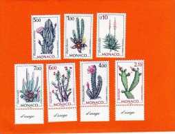 MONACO N° 2057 à 2059 Et 2164 à 2167  Plantes NEUF** - Monaco