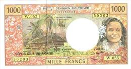W.053 Nouvelle Caledonie Billet Monnaie Outre Mer Ieom Banknote 1000 F Neuf Unc Derniere Signature 2013 TB - Nouméa (Nuova Caledonia 1873-1985)