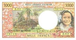 Z.053 Nouvelle Caledonie Billet Monnaie Outre Mer Ieom Banknote 1000 F Neuf Unc Derniere Signature 2013 TB - Nouméa (New Caledonia 1873-1985)