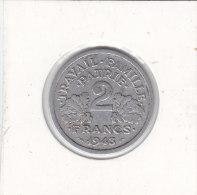 2 Francs Alu 1943 ETAT FRANCAIS - I. 2 Francs