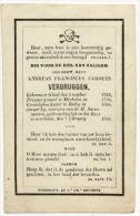Andreas Franciscus Carolus  Verbruggen  1768 - 1831  Gheel - Rethy - Devotion Images