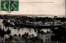 Les Sables D'Olonne - Du Port Et De La Plage Vue Prise D'aéroplane. - Sables D'Olonne
