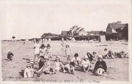 35 LE VIVIER Sur MER  ENFANTS  JEUX Sur La PLAGE Devant Les VILLAS - Francia