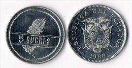 Ecuador 5 Sucres 1988 - Equateur