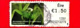 IRLANDA - EIRE - Usato - 2011 - Micrommata Virescens - 1.50 - Affrancature Meccaniche/Frama