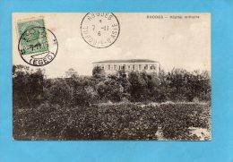 """GRECE-RHODES-turquie D´asie´-hopital Millitaire - Nov1916 Cachet-Rodi-stamp Italien""""surchargé"""" Rodi - Grèce"""