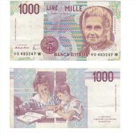1000 LIRE VG 403247 W - [ 2] 1946-… : République