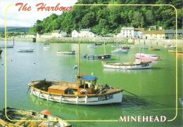 THE HARBOUR, MINEHEAD, SOMERSET, ENGLAND. UNUSED  POSTCARD Fg2 - Minehead