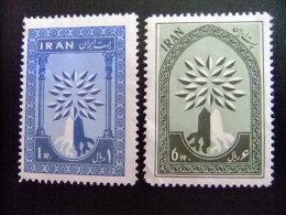 IRAN -  AÑO DEL REFUGIADO 1960 - WORLD REFUGEE YEAR  Yvert 956 / 957 (*) - Refugiados