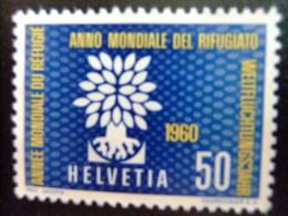 HELVETIA -  AÑO DEL REFUGIADO 1960 - WORLD REFUGEE YEAR   -- Yvert & Tellier Nº 641 (*) - Refugiados
