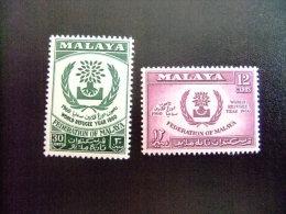 FEDERATION MALAYA -  AÑO DEL REFUGIADO 1960 - WORLD REFUGEE YEAR   -- Yvert & Tellier Nº 94 / 95 ** MNH - Refugiados