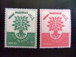 PAKISTAN -  AÑO DEL REFUGIADO 1960 - WORLD REFUGEE YEAR   -- Yvert & Tellier Nº 113 / 114 (*) - Refugiados