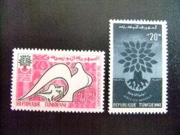 REPUBLIQUE TUNISIENNE -  AÑO DEL REFUGIADO 1960 - WORLD REFUGEE YEAR   -- Yvert & Tellier Nº 502 / 503 ** MNH - Refugiados