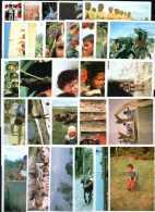 Lot De 63 Images De L´album Poulain. Série Mini Reporters. Fêtes Et Jeux D´enfants Sur Tous Les Continents, Paysages... - Poulain