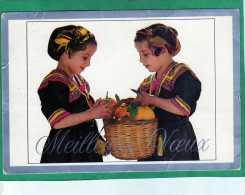 Meilleurs Voeux (deux Petites Filles En Costume Algérien Traditionnel) - Algérie