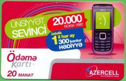 Azerbaijan GSM Prepaid Card - Azercell 20 Manat - Azerbaïjan